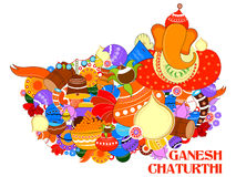 Happy Ganesh Chaturthi background Stock Photography