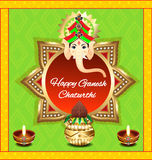 Happy ganesh chaturthi background. Vector illustration Royalty Free Stock Images
