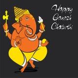 Happy ganesh chaturthi banner design Royalty Free Stock Images
