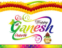 Happy ganesh chaturthi celebration background. Vector illustration Royalty Free Stock Photography