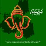 Happy Ganesh Chaturthi Celebration. Illustration of a Banner of a Creative Card or Poster For Festival of Ganesh Chaturthi Celebration royalty free illustration