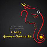 Happy ganesh chaturthi festival greeting card Stock Images
