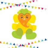 Happy ganesh chaturthi greeting design Royalty Free Stock Photography