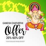 Happy Ganesh Chaturthi. Illustration of a Banner for Happy Ganesh Chaturthi Royalty Free Stock Photography