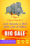 Happy Ganesh Chaturthi Sale offer Royalty Free Stock Images