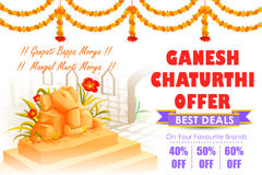 Happy Ganesh Chaturthi Sale offer Royalty Free Stock Image