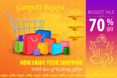 Happy Ganesh Chaturthi Sale offer Stock Image
