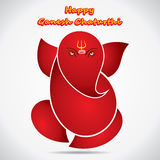 Happy ganesh chaturthi sketch greeting card design Stock Photography