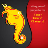 Happy ganesh chaturthi sketch greeting card design Royalty Free Stock Image