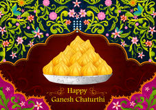 Happy Ganesh Chaturthi. Sweet dessert modak in vector for Happy Ganesh Chaturthi royalty free illustration