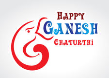 Happy ganesh Chaturthi Text background. Illustration vector illustration
