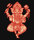 Happy Ganesh Chaturthi. Vector illustration of Hindu lord Royalty Free Stock Photo