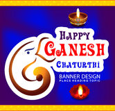 Happy ganesha chaturthi celebration background. Vector illustration royalty free illustration