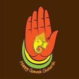Happy Ganesha chaturthi poster design Stock Image