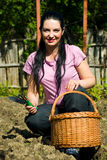 Happy gardener woman Royalty Free Stock Photography