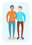 Happy gay couple in casual clothes Stock Photo