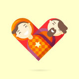 Happy gay couple vector illustration