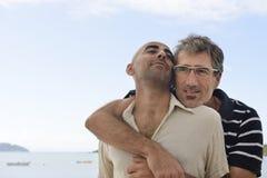 Happy gay couple on vacation Royalty Free Stock Photos