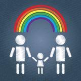 Happy gay family Stock Photos