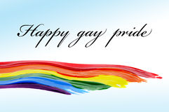 Happy gay pride Stock Photo