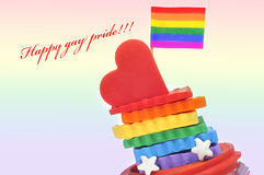 Happy gay pride Royalty Free Stock Photography