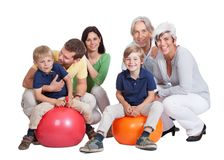 Happy generations family Stock Photo