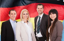 Happy german businesspeople Stock Image