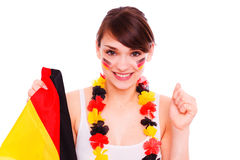 Happy german fan Royalty Free Stock Images
