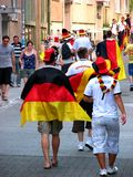 Happy German public after the football world cup victory Royalty Free Stock Image