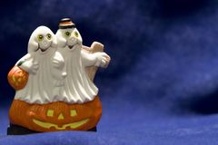 Happy ghost. A pair of ceramic ghost Royalty Free Stock Images