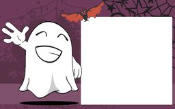 Happy Ghost halloween cartoon expressions frame background Stock Photography