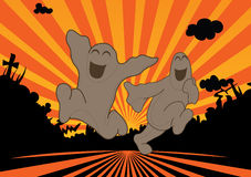 Happy Ghosts Royalty Free Stock Photo