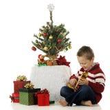 Happy with Gift Stock Photo