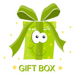 Happy gift box Stock Photography