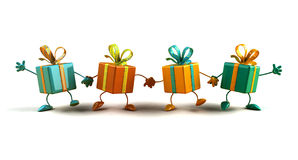 Happy gifts Royalty Free Stock Photo