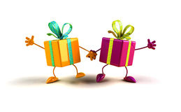 Happy gifts Royalty Free Stock Photography
