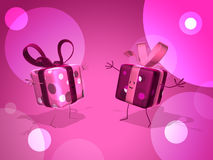 Happy gifts Stock Images