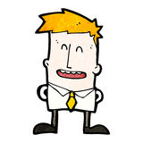 Happy ginger boy cartoon Stock Images