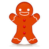 Happy Ginger Bread. Vector Illustration of Happy Ginger Bread Royalty Free Stock Images