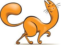 Happy Ginger Cat Stock Photo