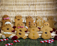Happy gingerbread cookies children Royalty Free Stock Photos