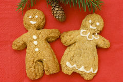 Happy gingerbread couple. Stock Photography