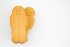 Happy Gingerbread People Stock Photography