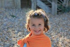 Happy girl. Portrait of happy little girl smiling Stock Image