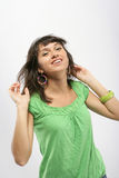 Happy girl. Pretty young girl emotional portrait Stock Images