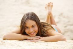 Happy girl. The happy girl which smiles Royalty Free Stock Image