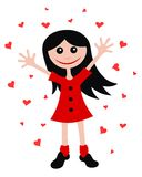 Happy girl. Abstract vector illustration of happy girl cartoon style royalty free illustration
