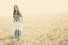 Happy girl. Happiness, summer, girl in the meadow Royalty Free Stock Photography
