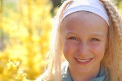 Happy Girl. Enjoying the sunshine royalty free stock photos