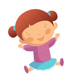 Happy girl. Portrait of happy girl is smiling Royalty Free Stock Image